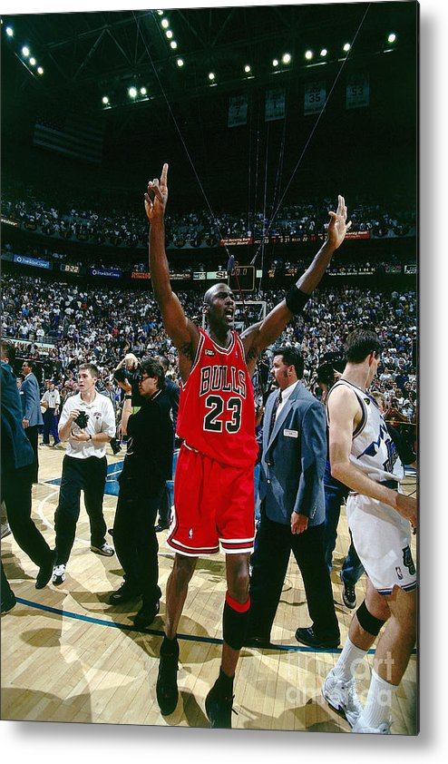 Chicago Bulls Metal Print featuring the photograph Michael Jordan by Nathaniel S. Butler
