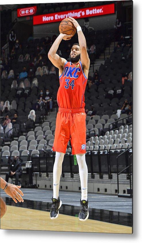 Nba Pro Basketball Metal Print featuring the photograph Oklahoma City Thunder vs. San Antonio Spurs by Logan Riely