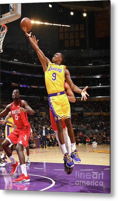 Nba Pro Basketball Metal Print featuring the photograph Rajon Rondo by Andrew D. Bernstein