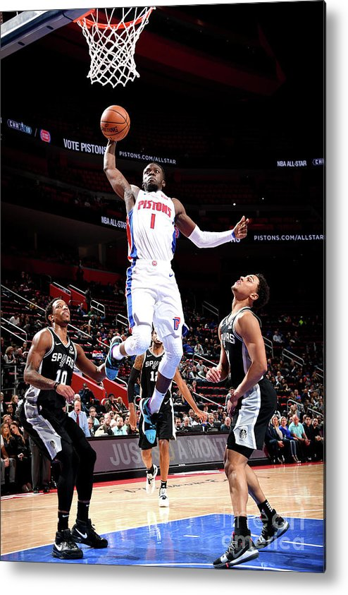 Nba Pro Basketball Metal Print featuring the photograph Reggie Jackson by Chris Schwegler
