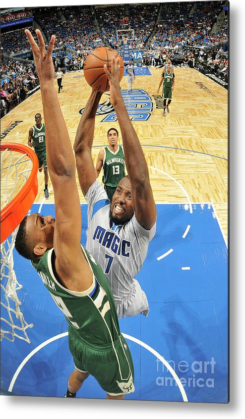 Nba Pro Basketball Metal Print featuring the photograph Serge Ibaka by Fernando Medina