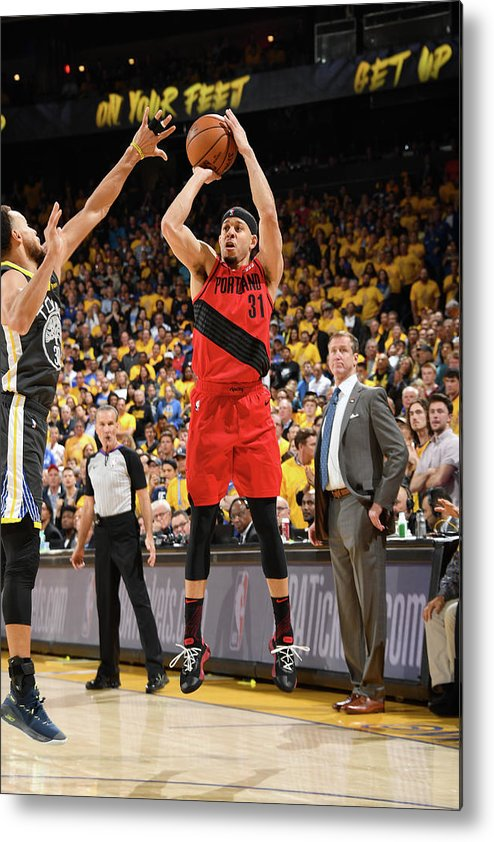 Game Two Metal Print featuring the photograph Seth Curry by Andrew D. Bernstein