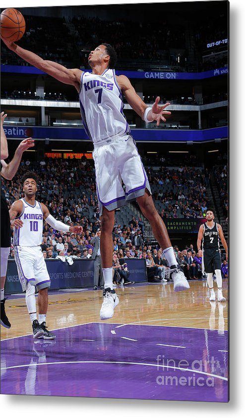 Nba Pro Basketball Metal Print featuring the photograph Skal Labissiere by Rocky Widner