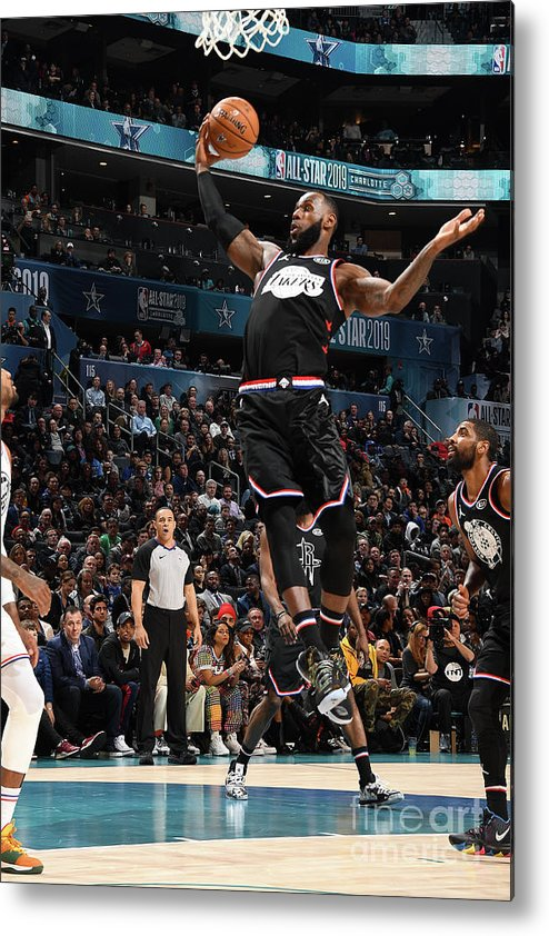 Nba Pro Basketball Metal Print featuring the photograph Lebron James by Andrew D. Bernstein
