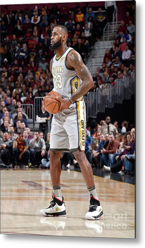Nba Pro Basketball Metal Print featuring the photograph Lebron James by David Liam Kyle