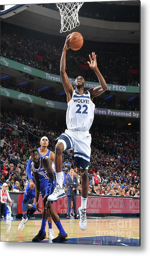 Nba Pro Basketball Metal Print featuring the photograph Andrew Wiggins by Jesse D. Garrabrant