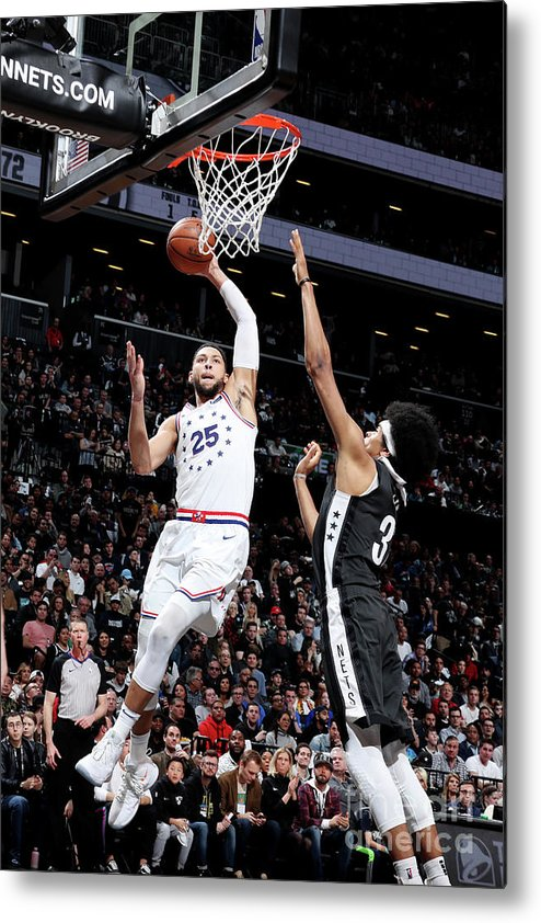 Playoffs Metal Print featuring the photograph Ben Simmons by Nathaniel S. Butler
