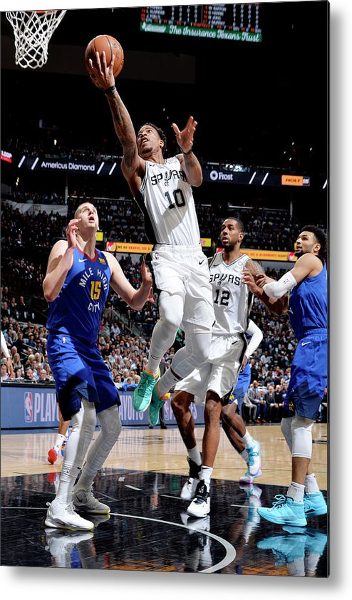 Playoffs Metal Print featuring the photograph Demar Derozan by Mark Sobhani