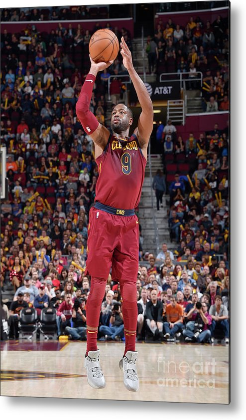 Nba Pro Basketball Metal Print featuring the photograph Dwyane Wade by David Liam Kyle