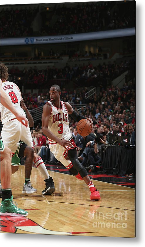 Nba Pro Basketball Metal Print featuring the photograph Dwyane Wade by Gary Dineen