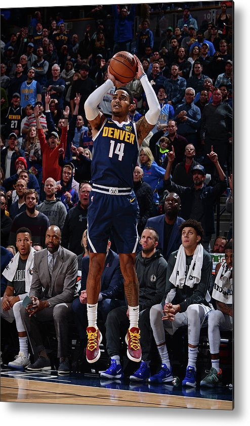 Nba Pro Basketball Metal Print featuring the photograph Gary Harris by Bart Young