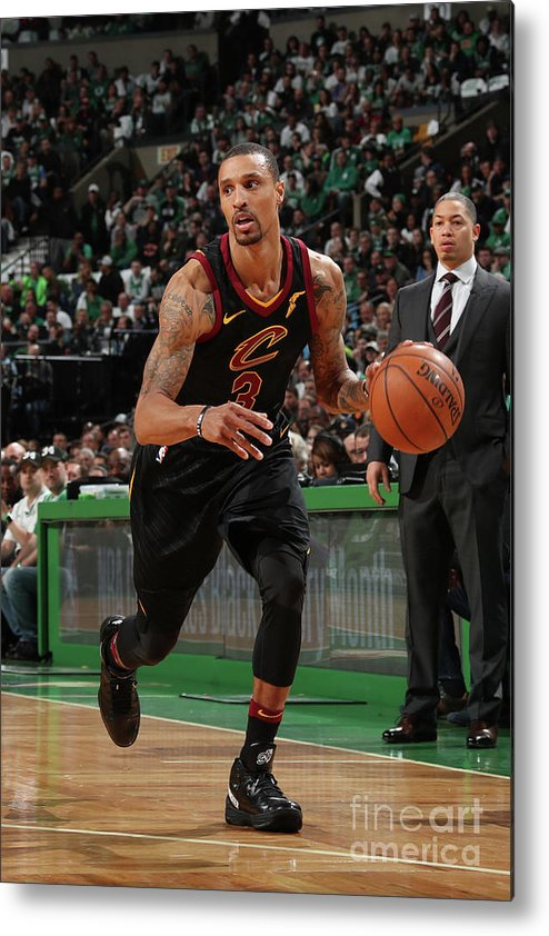 Nba Pro Basketball Metal Print featuring the photograph George Hill by Nathaniel S. Butler