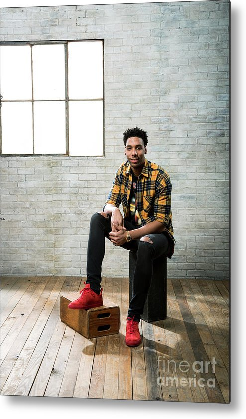 Nba Pro Basketball Metal Print featuring the photograph Jahlil Okafor by Nathaniel S. Butler