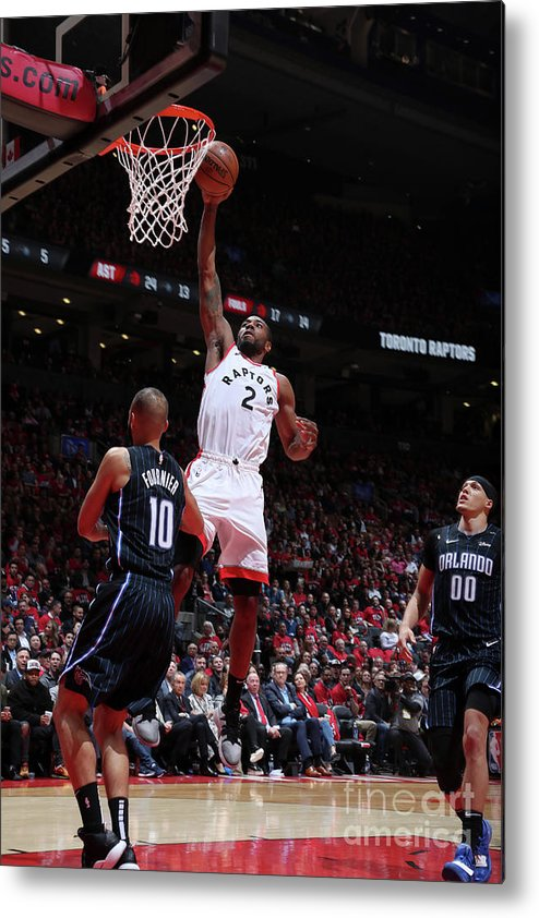 Playoffs Metal Print featuring the photograph Kawhi Leonard by Nathaniel S. Butler