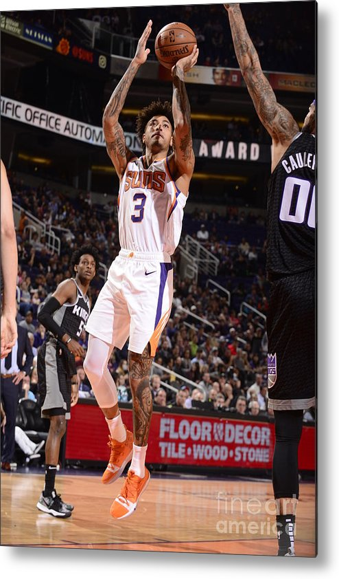 Nba Pro Basketball Metal Print featuring the photograph Kelly Oubre by Barry Gossage