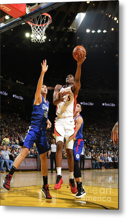 Nba Pro Basketball Metal Print featuring the photograph Kevon Looney by Noah Graham
