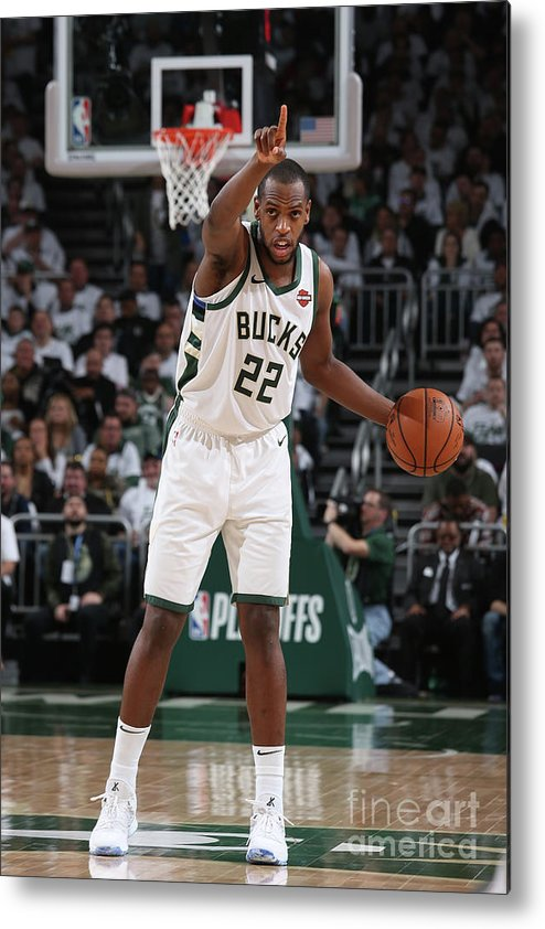 Playoffs Metal Print featuring the photograph Khris Middleton by Gary Dineen