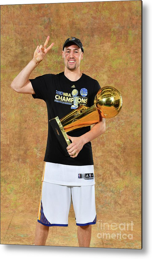 Playoffs Metal Print featuring the photograph Klay Thompson by Jesse D. Garrabrant