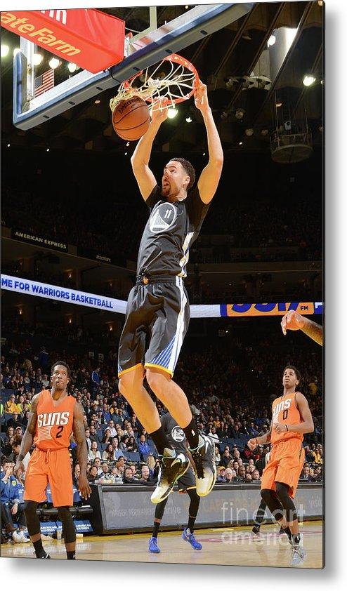 Nba Pro Basketball Metal Print featuring the photograph Klay Thompson by Noah Graham