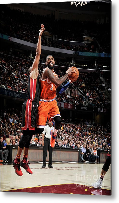 Nba Pro Basketball Metal Print featuring the photograph Kyrie Irving by David Liam Kyle