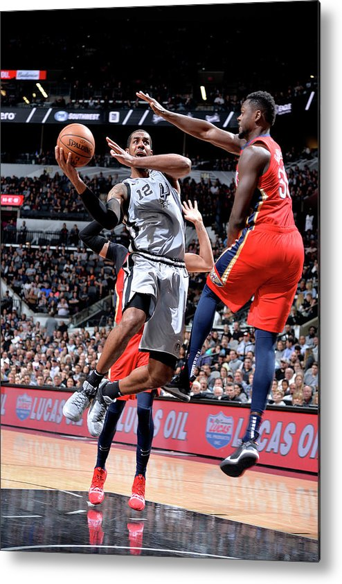 Nba Pro Basketball Metal Print featuring the photograph Lamarcus Aldridge by Mark Sobhani