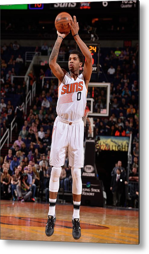Nba Pro Basketball Metal Print featuring the photograph Marquese Chriss by Barry Gossage