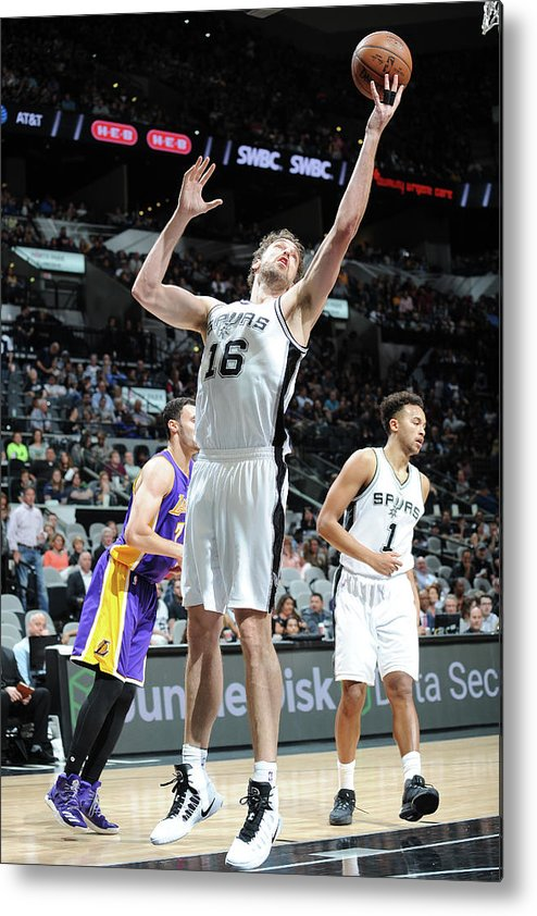 Nba Pro Basketball Metal Print featuring the photograph Pau Gasol by Mark Sobhani