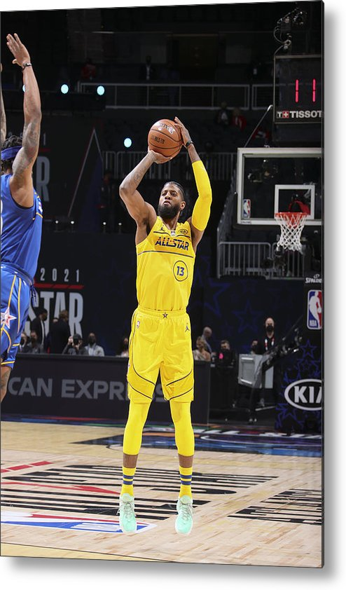 Atlanta Metal Print featuring the photograph Paul George by Nathaniel S. Butler