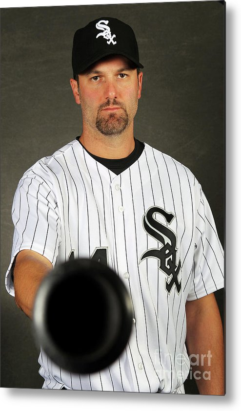 Media Day Metal Print featuring the photograph Paul Konerko by Jamie Squire