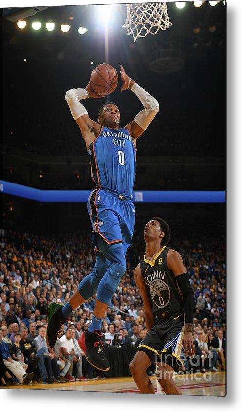Nba Pro Basketball Metal Print featuring the photograph Russell Westbrook by Garrett Ellwood