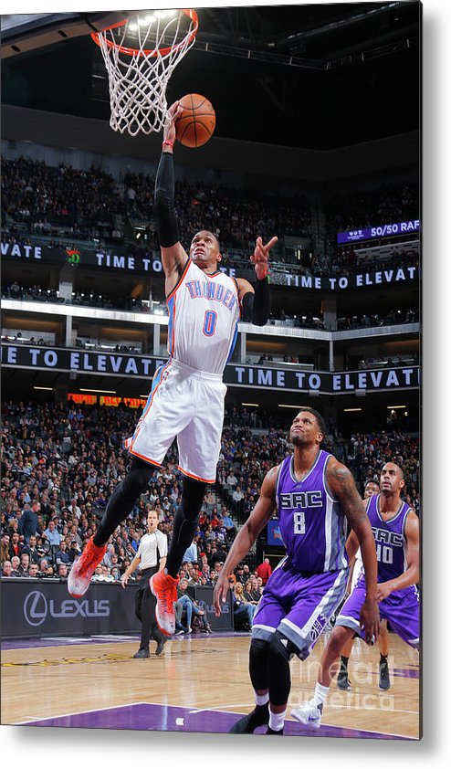 Nba Pro Basketball Metal Print featuring the photograph Russell Westbrook by Rocky Widner