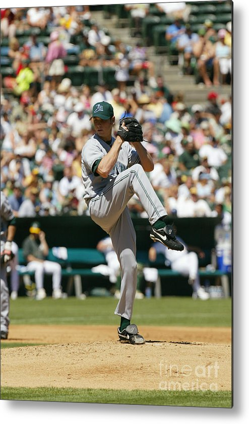 American League Baseball Metal Print featuring the photograph Scott Kazmir by Don Smith