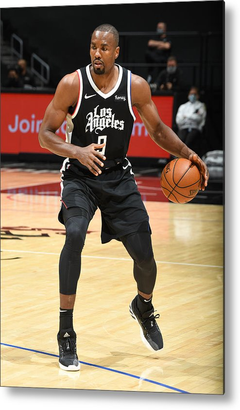 Nba Pro Basketball Metal Print featuring the photograph Serge Ibaka by Andrew D. Bernstein