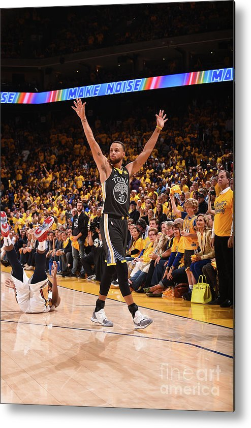 Playoffs Metal Print featuring the photograph Stephen Curry by Noah Graham