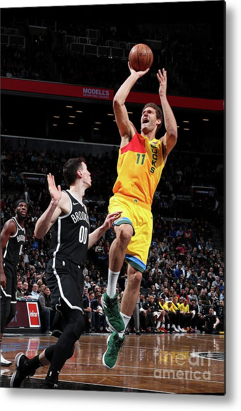 Nba Pro Basketball Metal Print featuring the photograph Brook Lopez by Nathaniel S. Butler