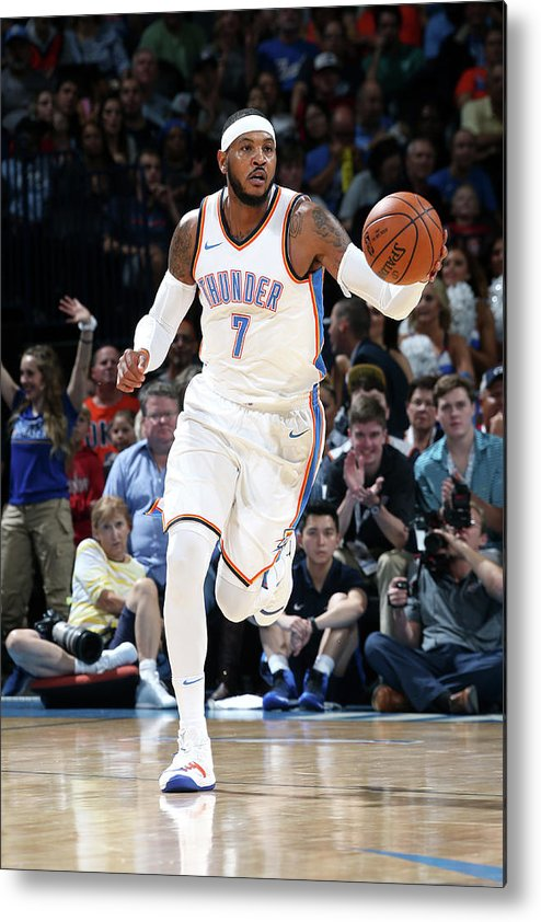 Nba Pro Basketball Metal Print featuring the photograph Carmelo Anthony by Layne Murdoch