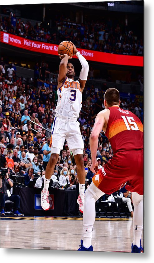 Playoffs Metal Print featuring the photograph Chris Paul by Barry Gossage