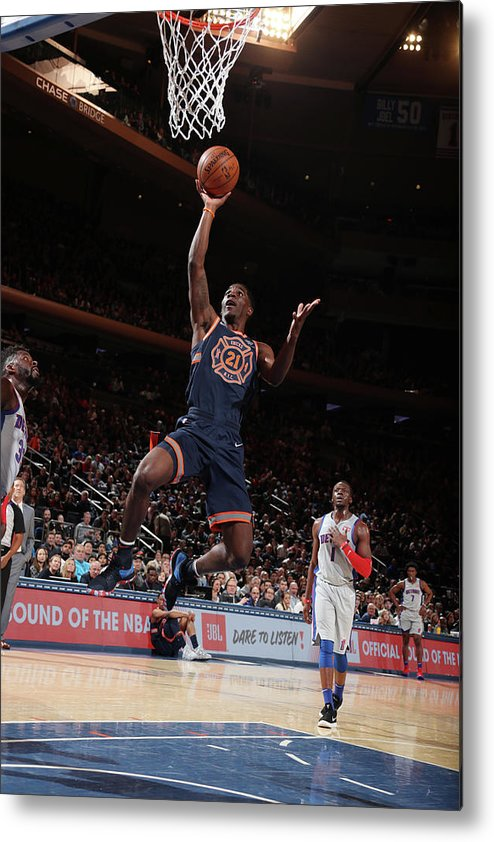 Nba Pro Basketball Metal Print featuring the photograph Damyean Dotson by Nathaniel S. Butler