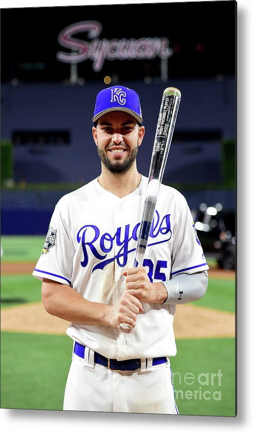 Three Quarter Length Metal Print featuring the photograph Eric Hosmer by Harry How