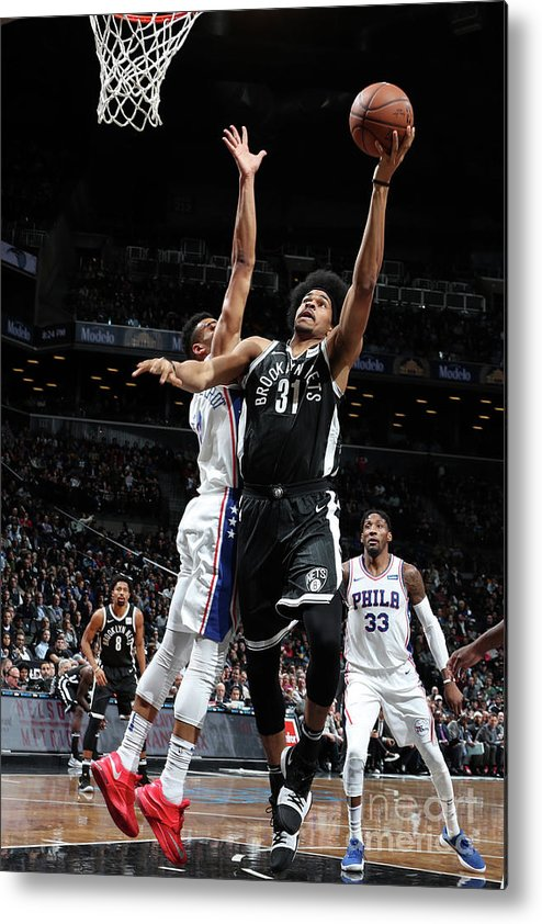 Nba Pro Basketball Metal Print featuring the photograph Jarrett Allen by Nathaniel S. Butler