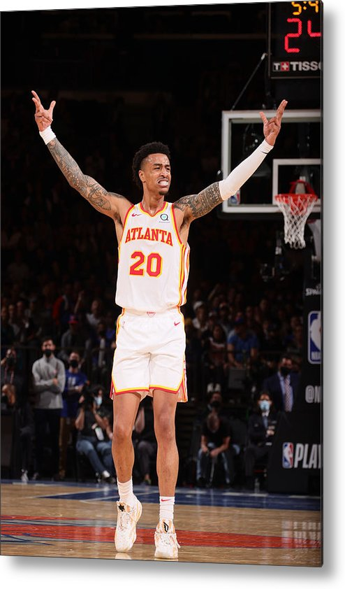 Playoffs Metal Print featuring the photograph John Collins by Nathaniel S. Butler