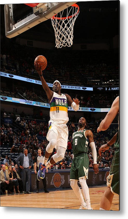 Smoothie King Center Metal Print featuring the photograph Jrue Holiday by Layne Murdoch Jr.
