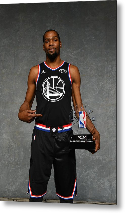 Nba Pro Basketball Metal Print featuring the photograph Kevin Durant by Jesse D. Garrabrant