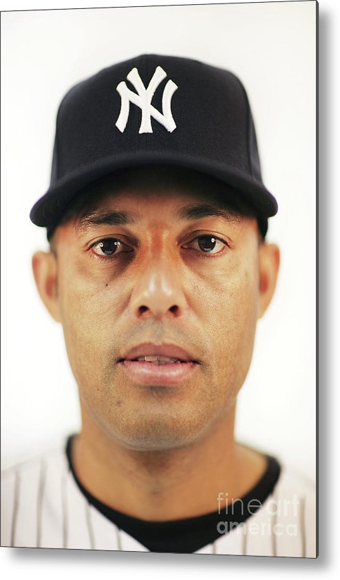 Media Day Metal Print featuring the photograph Mariano Rivera by Nick Laham