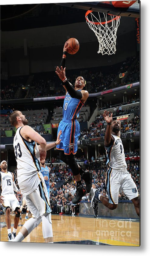 Nba Pro Basketball Metal Print featuring the photograph Russell Westbrook by Joe Murphy