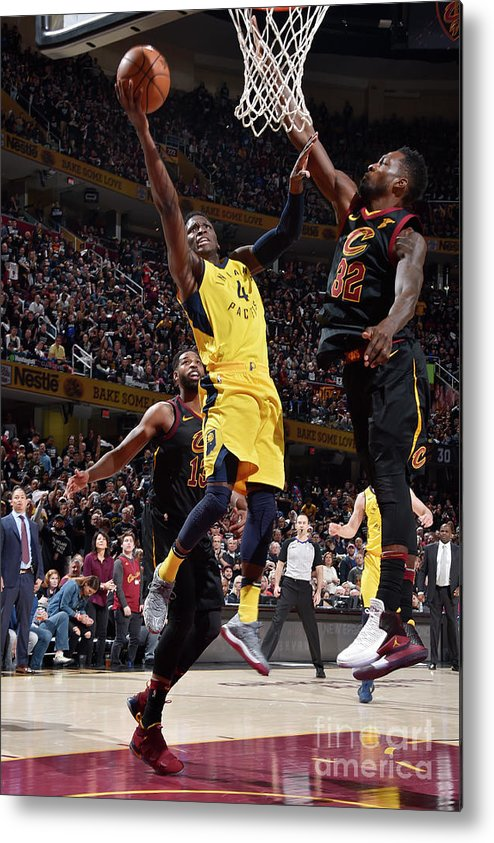 Playoffs Metal Print featuring the photograph Victor Oladipo by David Liam Kyle