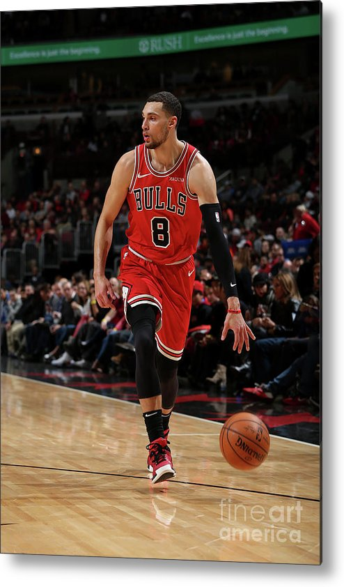 Nba Pro Basketball Metal Print featuring the photograph Zach Lavine by Gary Dineen