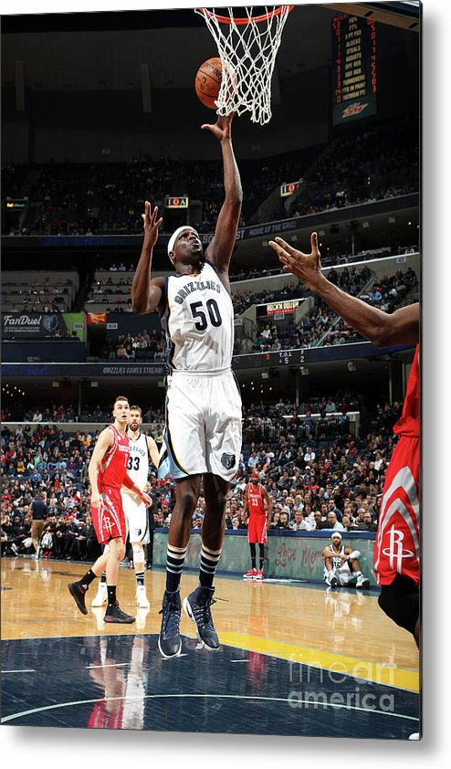 Nba Pro Basketball Metal Print featuring the photograph Zach Randolph by Joe Murphy