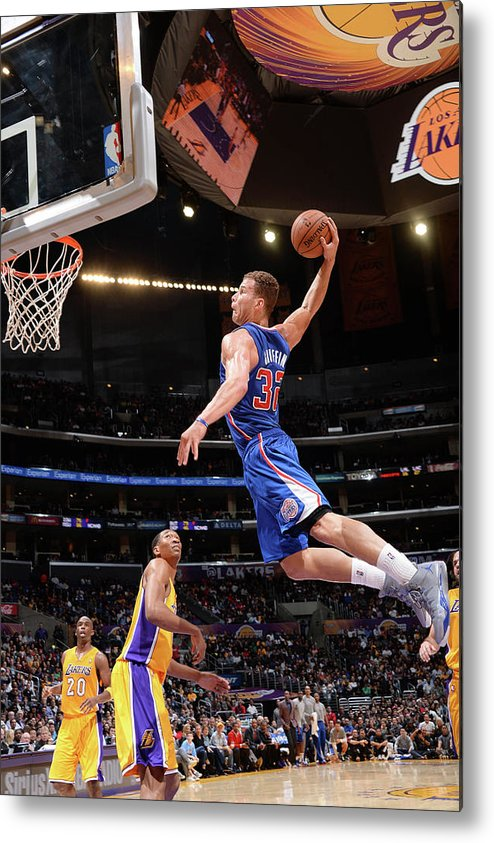 Nba Pro Basketball Metal Print featuring the photograph Blake Griffin by Andrew D. Bernstein