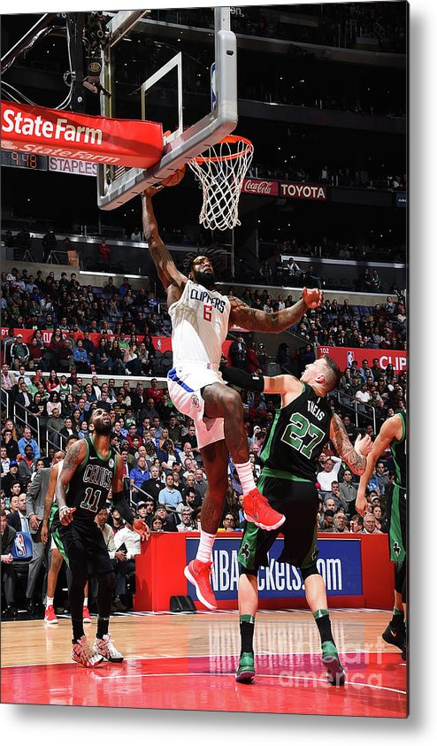 Nba Pro Basketball Metal Print featuring the photograph Deandre Jordan by Andrew D. Bernstein